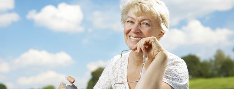 The elderly lady