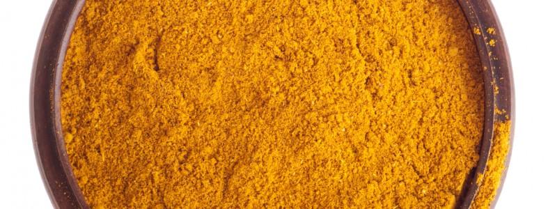 Curry powder on bowl